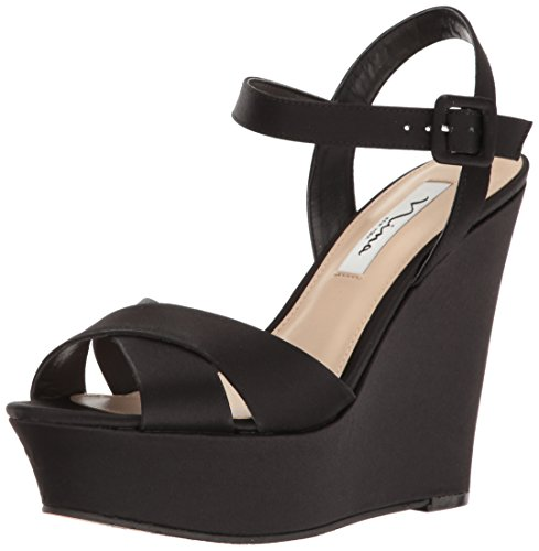 Nina Jinjer Women's Black Sandal Wedge Ys wHwrqd