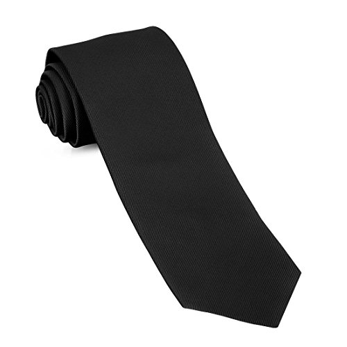 Tie Woven (Handmade Skinny Woven Slim Mens Tie By Luther Pike: Thin Black Ties For Men, Stylish For Every Outfit)