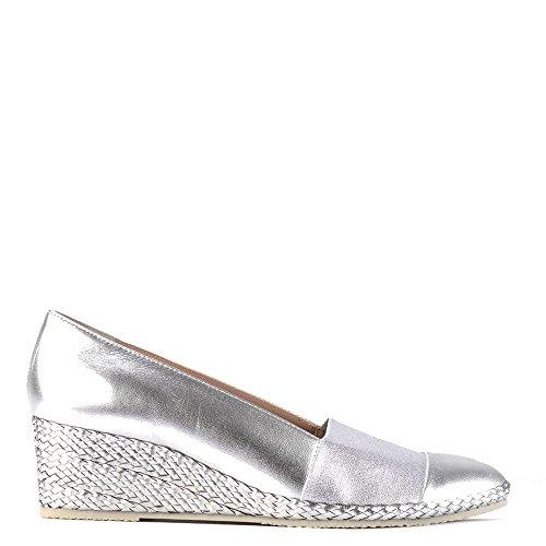 Elia B Shoes Pelloto Silver Wedge Pump Silver