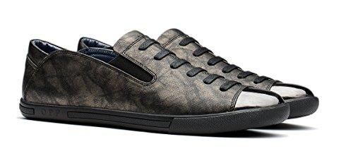 Hommes Opp Chaussures En Cuir Décontractée Silp-sur Bronze Flâneur Sneaekr