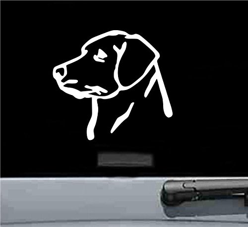 JS Artworks Labrador Retriever Head Vinyl Decal Sticker ()