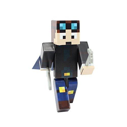 Miner Boy Action Figure Toy, 4 Inch Custom Series Figurines, EnderToys