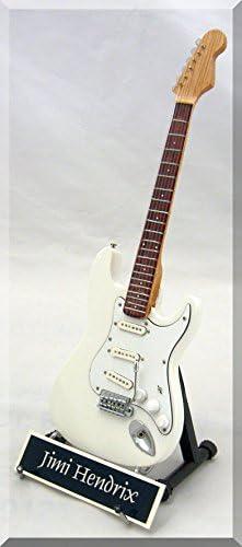 Jimi Hendrix Guitarra en miniatura réplica de color blanco w ...