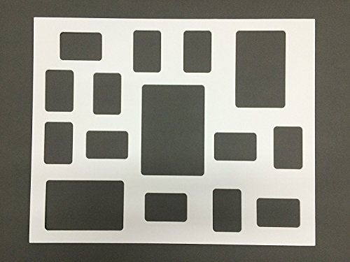 (Amazon Photo Mats White 16x20 Collage Picture Mat with Rounded Corners for 15 Photos or Pictures (Matting Only))