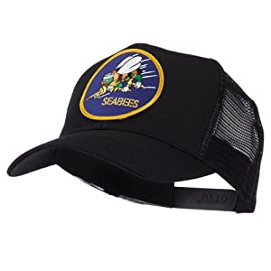 US Navy Military Patched Mesh Cap - Seabees W43S67F