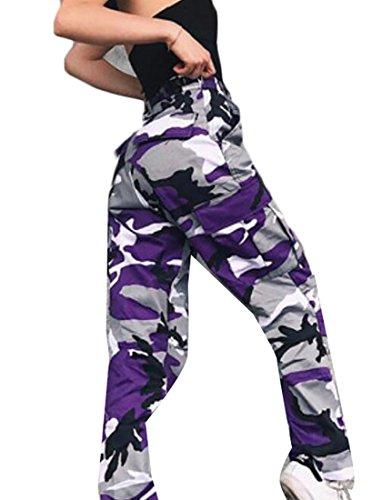 Purple Camo Pants - 7