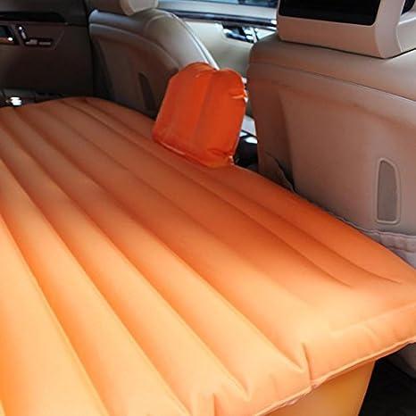 DD Coche Auto-inflable Cama Colchones Traseros Coche Cama Cama Cama Cama Inflable Colchones Coche,Naranja: Amazon.es: Deportes y aire libre
