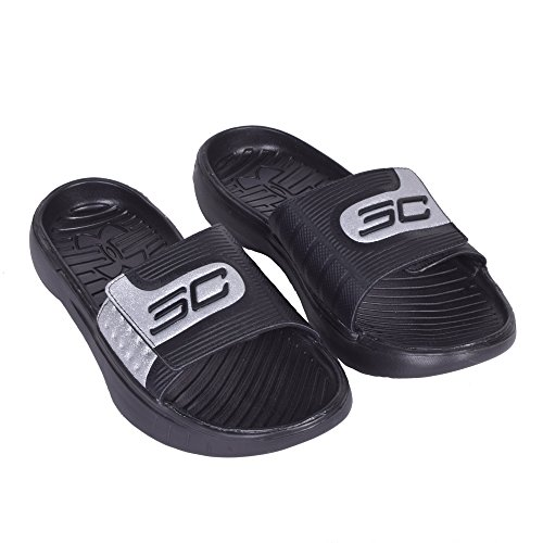 Under Armour Mens Curry Iv Slide Nero / Nero / Nero