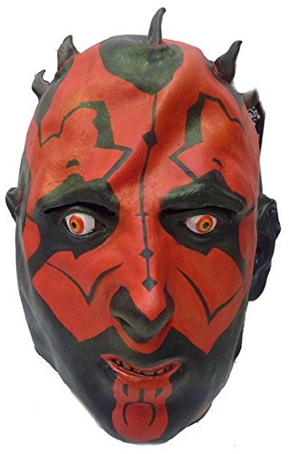 - Star Wars Phantom Menace - Darth Maul Adult Latex Mask