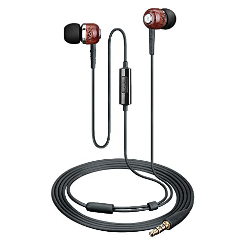 (Takstar HI1200 In-ear Headphones Isolating Premium Wood Earphones Professional DJ Monitoring Earphone Computer PC )