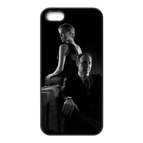 House Of Cards 001 coque iPhone 5 5S cellulaire cas coque de téléphone cas téléphone cellulaire noir couvercle EOKXLLNCD24441