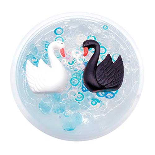 Sinfu Slime Toys, 60ml/100ml Black Swan Puff Mud Mixing Cloud Slime Putty Scented Stress Kids Clay Toy (60ml, A)