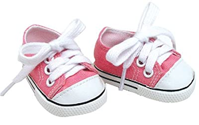 Doll Clothing for 18 Inch Doll Pink Shoes Made by Sophia's Doll Items fit for American Girl Doll & Clothes! Pink Doll Sneaker Accessory