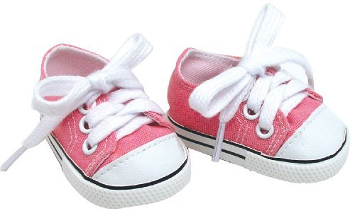 Doll Clothing for 18 Inch Doll Pink Shoes Made by Sophia's Doll Items fit for American Girl Doll & Clothes! Pink Doll Sneaker Accessory (Accessories Clothes And)