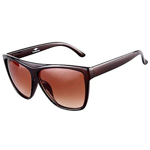 Coleman Wall Shade (Sinkfish SG80010 Sunglasses for Women,Retro Sunshades - UV400/Brown Frames/Darkred Lens)