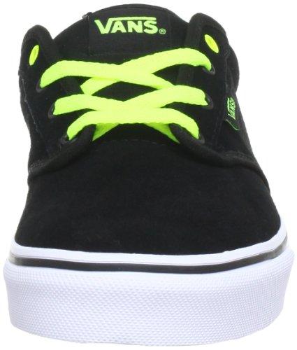 Vans y Atwood, Zapatillas Altas para Niños Negro ((suede) black/neon yellow)
