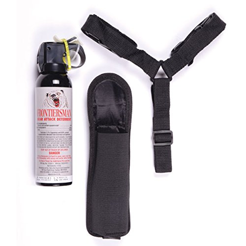 Frontiersman Bear Spray with Chest or Belt Holster– Easy Access, Max Strength 9.2 oz Industry Max 35 Foot Range