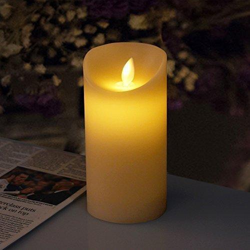 iDOO Velvety Vanilla Scented Flackernde Flamme LED Kerze ( 15 cm )