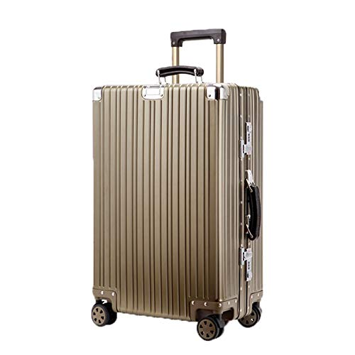フルマグネシウムアルミ合金トロリーボックスつや消しユニバーサルホイールアルミフレーム荷物スーツケースビジネス搭乗スーツケース(20/24/28インチ) (Color : Titanium gold, Size : 28 inch)   B07QXK196M