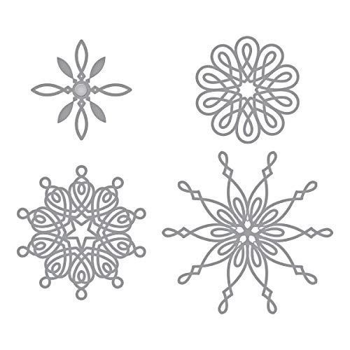 Spellbinders S5-379 Shapeabilities Yuletide Snowflakes Etched/Wafer Thin Dies, Metal