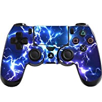 Blue Electric Playstation 4 (PS4) Controller Sticker / Skin / Decal PS22