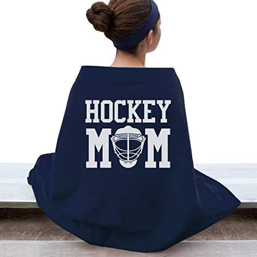 Customized Girl Hockey Mom Bleacher Blanket: Gildan DryBlend Stadium Blanket