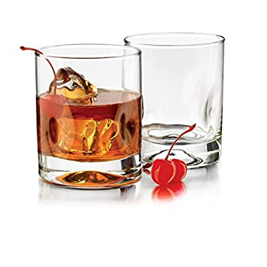 Libbey 8-Piece Impressions Double Old Fashioned Glasses, 12-Ounce, Clear