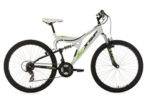 KS Cycling Fahrrad Mountainbike Fully XSF, weiß-grün, 26, 513M