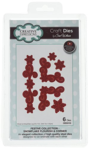 Sue Wilson CED3110 Festive Collection Snowflake Flourish & Corner