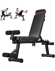 Vikbar hantelbänk, multifunktion träning fitness bänk hemträning gym tyngdlyftning & bänk platt lutning minskning multifunktionell träningsbänk