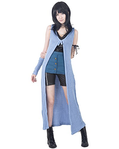 Final Fantasy 8 Rinoa Costume (Miccostumes Womens Final Fantasy VIII Rinoa Heartilly Cosplay Costume (WS, Blue and black))