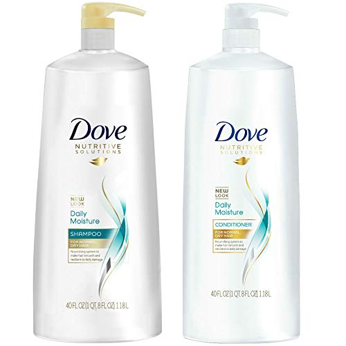 Dove Nutritive Solutions Daily Moisture, Shampoo and Conditioner Duo Set, 40 Ounce Pump Bottles