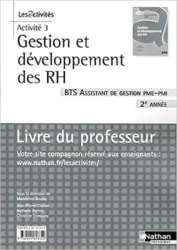 Amazon Fr Gestion Et Developpement Des Rh Bts 2e Annee