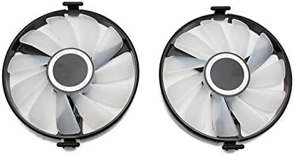 Fans & Cooling - Cooler Fan Replace For XFX AMD Radeon RX 470 480 580 RX580 RX480 RX470 EDITION Crimson Graphics Card Cooling Fan (Red light 2PCS)
