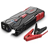 1500A Peak Car Jump Starter, MIUO 15600mAh Car Battery Booster(Up to 8.0L Gas and 6.5L Diesel Engine) Power Bank Portable Charger w/USB Charger+Quick Charge 3.0+Type-C+12V DC Output+LED Light