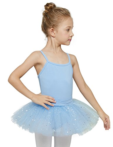 Camisole Tutu Leotard for Toddlers by MdnMd (2t - 4 Years,Blue)