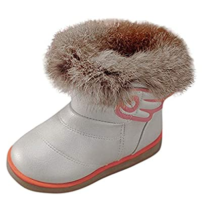 Tronet Winter Kids Shoes,Infant Baby Infant Boys Girls Cartoon Wings Leather Winter Warm Bootie Non-Slip Snow Boots