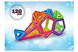 <120 PCS > Creative Magnetic Building Blocks Tiles Boys Girls Creative development Imagination