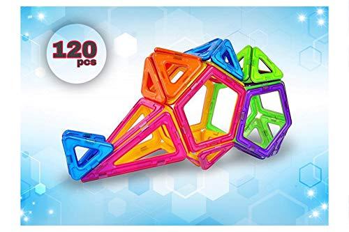 <120 PCS > Magnetic Blocks Creative development Imagination Educational  STEM Stacking clear Building Blocks Set Intelligence learning Preschool
