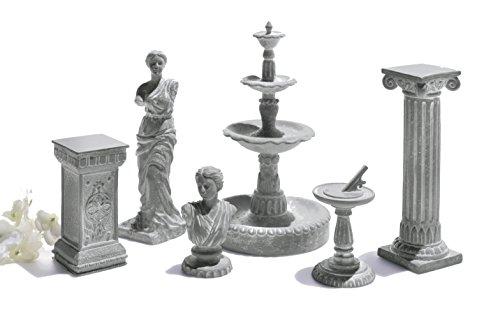 Grasslands Road Miniature Classical Statue Cement Assortment Décor (12 Pack), 2''/Mini, Multicolor by Grasslands Road