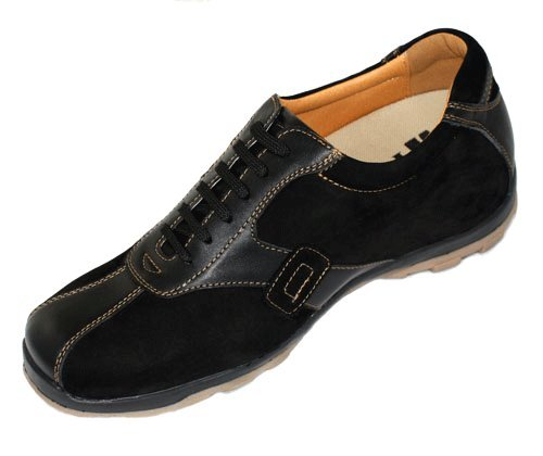 Taller Shoes Leather Increasing Lace up V0505 7 inches Elevator Shoes Black 5 D 3 US Height Casual Size TOTO vtxUv