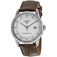 Tissot Powermatic 80 Automatic Silver Dial Brown Leather Men's Watch