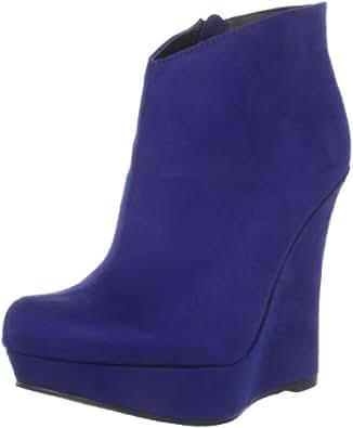 Michael Antonio Women's Cane Ankle Boot,Blue,7 M US