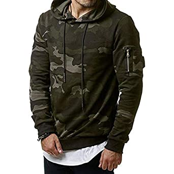 Image Unavailable. Image not available for. Color  EbuyChX Men s Casual  Cardigan Pure Military Camouflage Hoodie Sweater Winter J Army Green ... bd29d5571