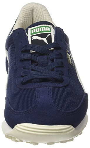 Bleu Mixte White Peacoat Basses Rider Puma Sneakers gold Adulte Classic whisper Easy 0xqB0pH