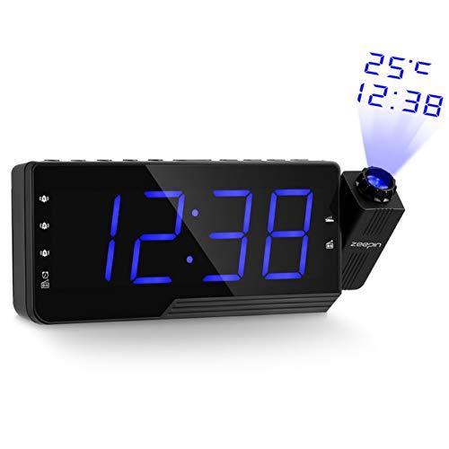 PTICA Radio Digital Reloj Despertador Proyección Posponer ...