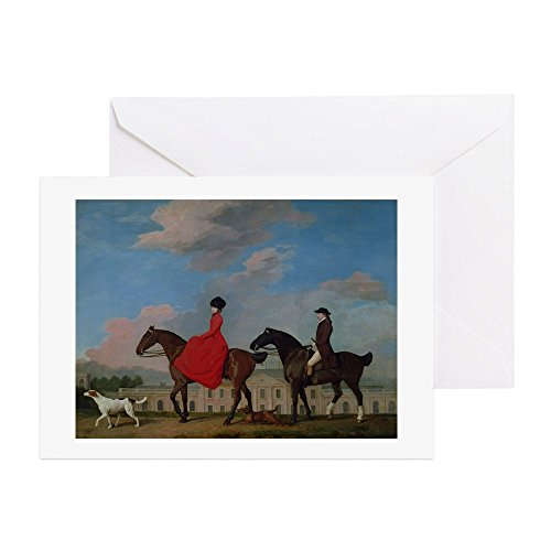 CafePress John And Sophia Musters Riding At - Greeting Card, Note Card, Birthday Card, Blank Inside Glossy