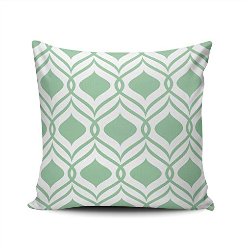 Diamond Toss Wallpaper - KAQIU Green Diamond Pillowcase Home Sofa Decorative 18x18 Inch Square Throw Pillow Case Decor Cushion Covers Double Sided Printed