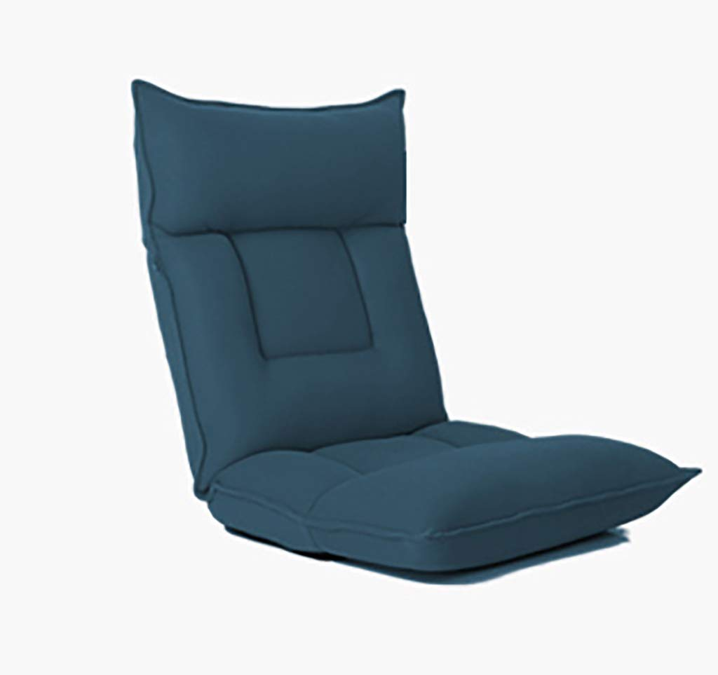 Faules Sofa Justierbares Faltendes Boden-Stuhl-Boden-Kissen Multiangle Couch-Betten Für Uhr Fernsehapparat Spiel Mittag Rest Nap (Farbe   Blau) Blau