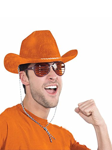 - Forum Novelties Orange Cowboy Deluxe Hat